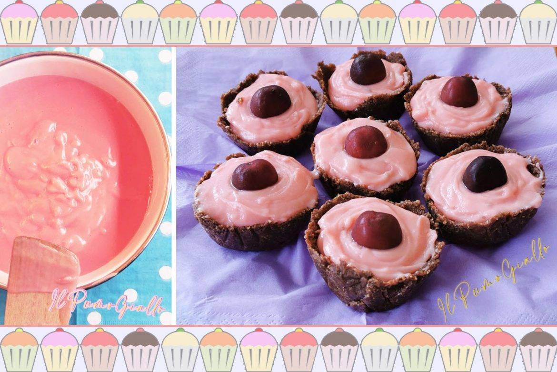 Choco Sweetie Pie senza cottura. Il dolce in rosa!