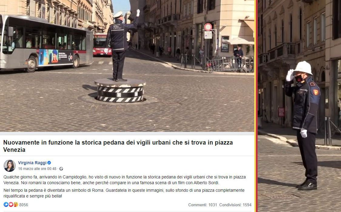 Pizzardone, rispunta a P.zza Venezia, Otello Celletti docet