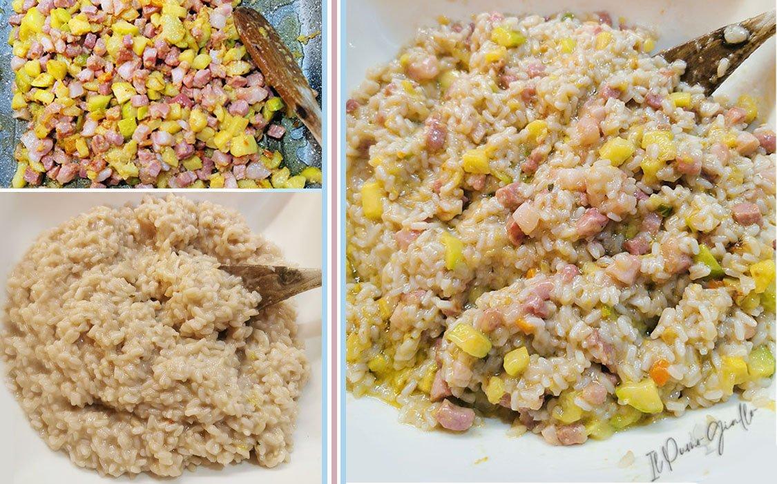 Risotto zucchine e pancetta, pronto in 20 minuti!